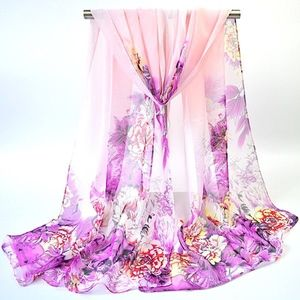 Accessories - Beautiful Hand-Painted Flowers Bloom Scarf